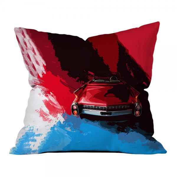 Mavi-Kırmızı Klasik Araba Kırlent