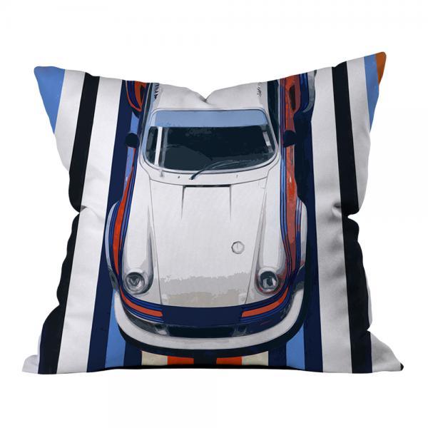 Mavi-Turuncu Yarış Arabası Kırlent