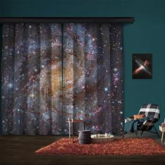 NGC 6946 (HST, Subaru) 2 Kanat Blackout Perde