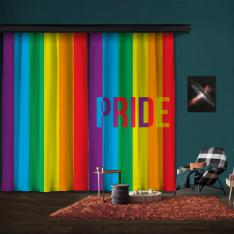Pride Rainbow 2 Panel Curtain