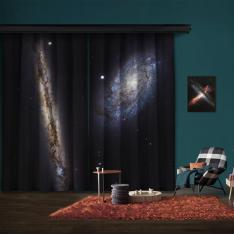 Spiral Gökada Çifti NGC 4302 ve NGC 4298 2 Kanat Blackout Perde