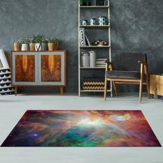 Spitzer and Hubble Create Colorful Masterpiece Printed Carpet