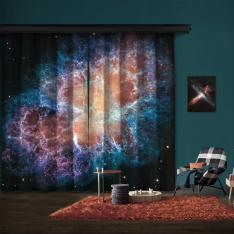Yengeç Bulutsusu'nun Dev Hubble Mozaiği 2 Kanat Blackout Perde
