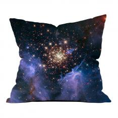 Starburst Cluster Shows Celestial Fireworks Pillow