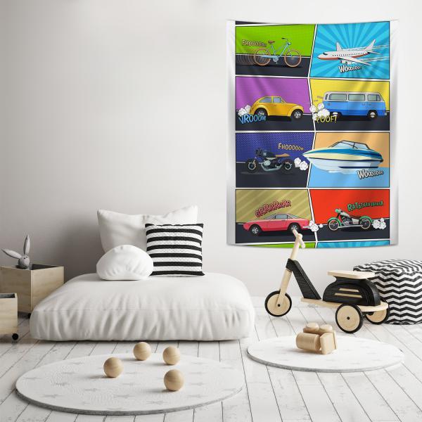 Araç Kompozisyonu Duvar Örtüsü