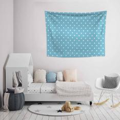 Cupcake Pattern Blue Wall Spread