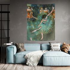 Edgar Degas - Yeşil Balerin Duvar Örtüsü