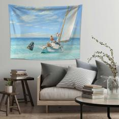 Edward Hopper-Dalgaların Kabarması Duvar Örtüsü