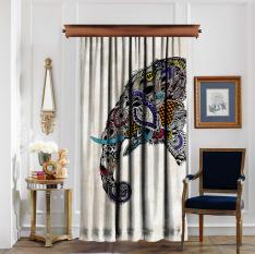 Ethnic Elephant Figured Panel Curtain