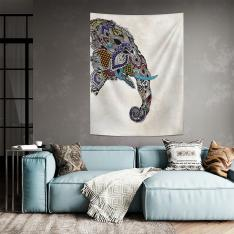Ethnic Elephant Figured Wall Spread