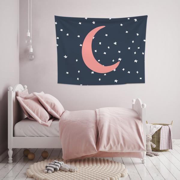 Gece Yarım Ay Duvar Örtüsü