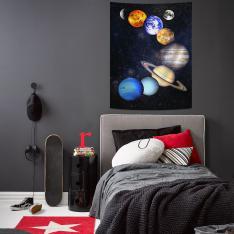 Güneş Sistemi Uzay Duvar Örtüsü
