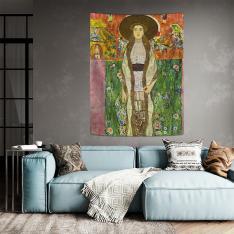 Gustav Klimt - Adele Bloch Bauer 2 Duvar Örtüsü