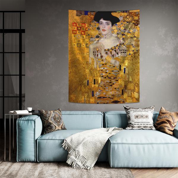 Gustav Klimt - Adele Bloch Bauer Portresi Duvar Örtüsü