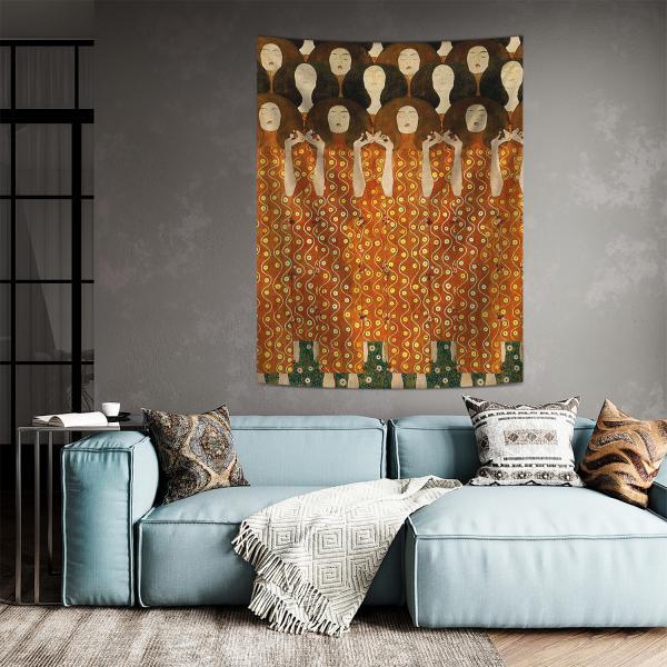 Gustav Klimt - Beethoven Friz (Detay) Duvar Örtüsü