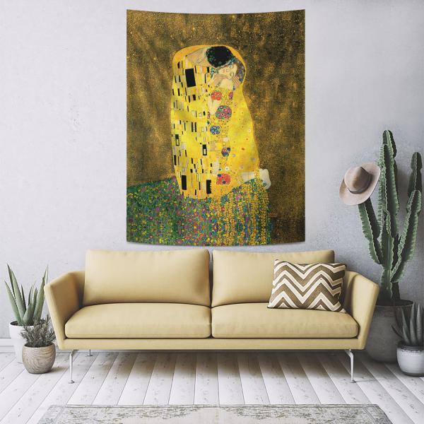 Gustav Klimt - Öpücük Duvar Örtüsü