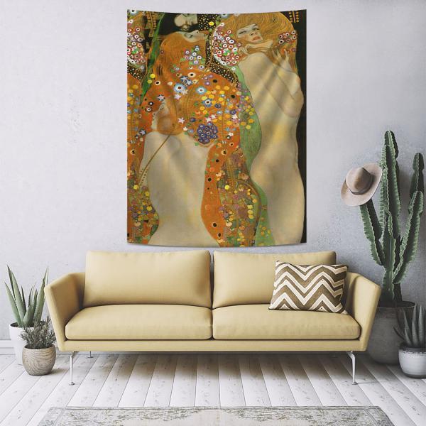 Gustav Klimt - Su Yılanları 2 Duvar Örtüsü