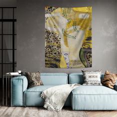 Gustav Klimt - Su Yılanları Duvar Örtüsü