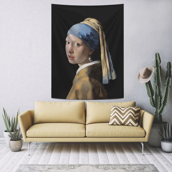 Johannes Vermeer - İnci Küpeli Kız Duvar Örtüsü