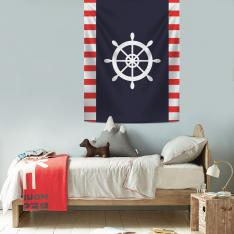 Red-White Rudder Wall Spread