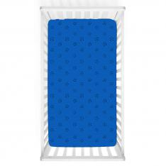 Black Polka-dot Blue Baby Bed Cover