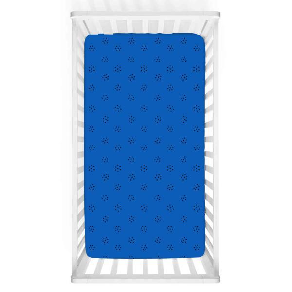 Siyah Puantiyeli Mavi Bebek Yatak Örtüsü