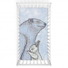 Blue Bear And Bunny Baby Bed Cover