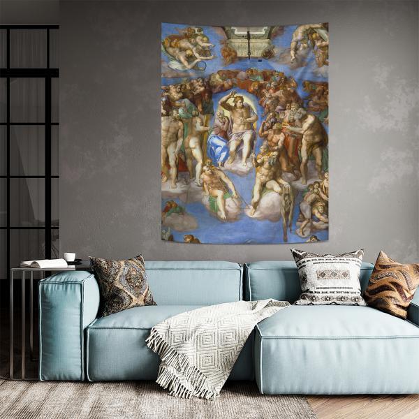 Michelangelo - Mahşer Duvar Örtüsü