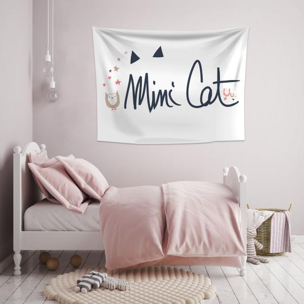 Minik Kedi Duvar Örtüsü