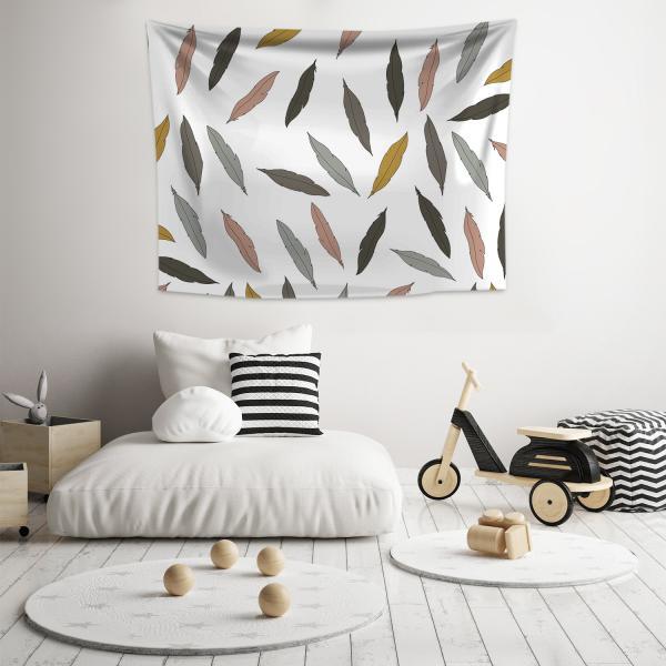 Rengarenk Tüylü Duvar Örtüsü