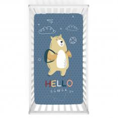 Colorful Hello Baby Bed Cover