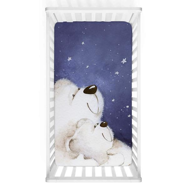 Sevimli Kutup Ayıları Bebek Yatak Örtüsü