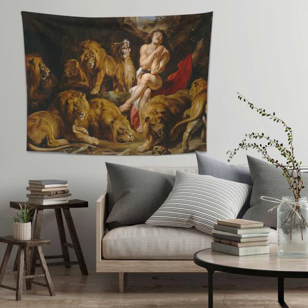 Sir Peter Paul Rubens-Aslanlar ve Daniel Duvar Örtüsü