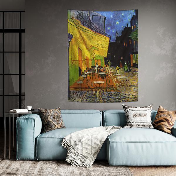 Vincent Van Gogh - Teras Kafe Duvar Örtüsü
