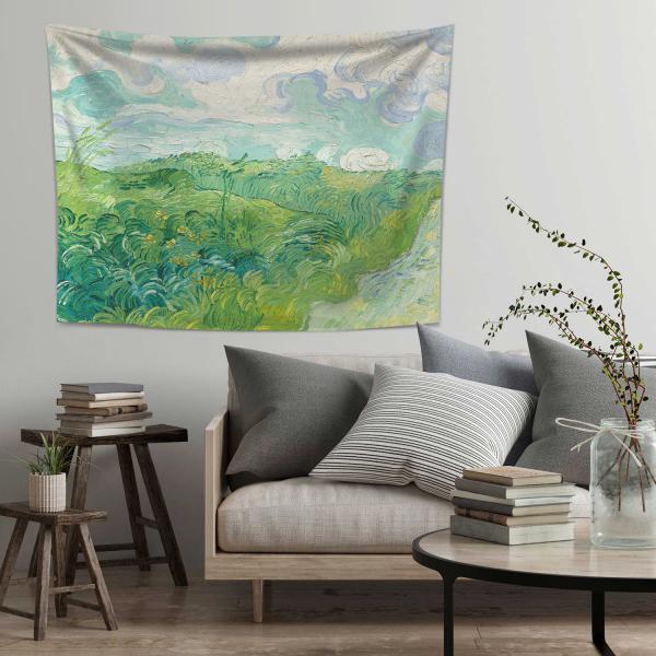 Vincent Van Gogh Yeşil Buğday Tarlaları Duvar Örtüsü