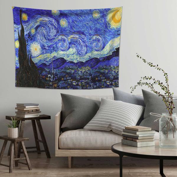 Vincent Van Gogh - Yıldızlı Gece Duvar Örtüsü