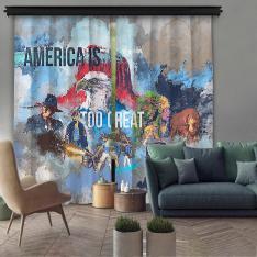American Dreams 2 Piece Panel Curtain