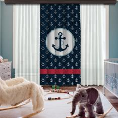 Anchor Composition One Piece Blackout Curtain