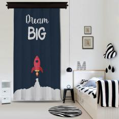 ''Dream Big'' Single Piece Blackout Curtain