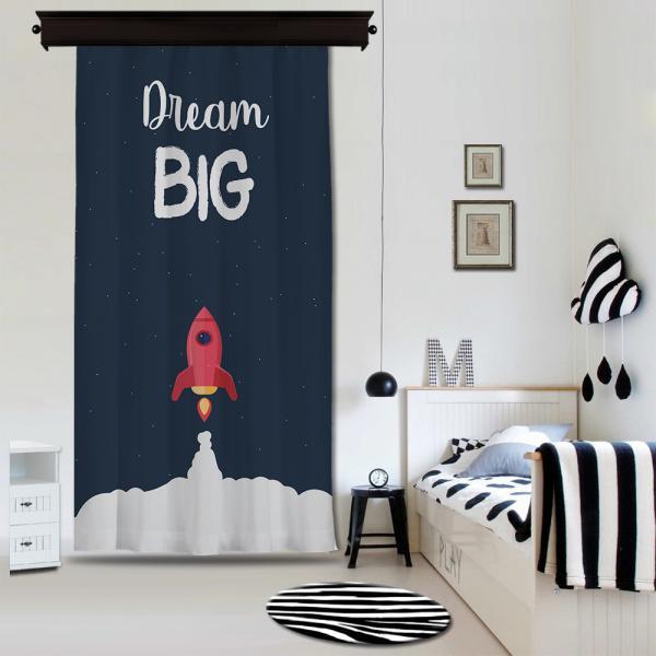 ''Dream Big'' Single Piece Blackout Curtain