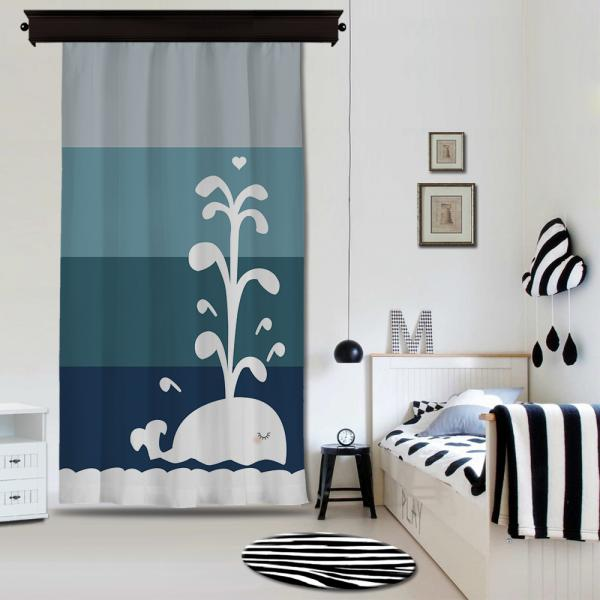Sweet Whale Single Piece Blackout Curtain