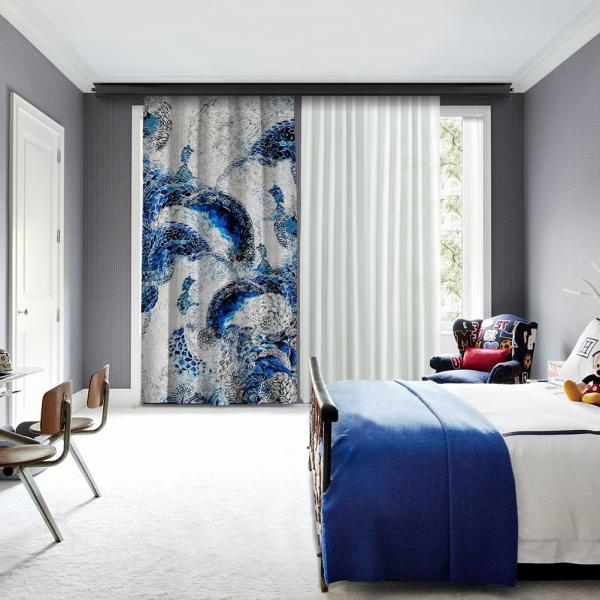 Abstract Marine One Piece Blackout Curtain