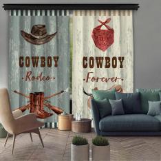 Cowboy Forewer Çift Kanat Fon Perde