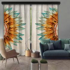 Ethnic Native American 2 Piece Panel Curtain