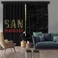 San Francisco Çift Kanat Fon Perde