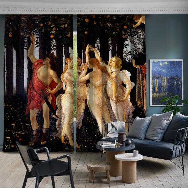 Sandro Botticelli - İlkbahar 1. Ve 2. Panel BlackOut SET