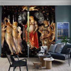 Sandro Botticelli - Primavera 2nd and 3rd Panel BlackOut SET