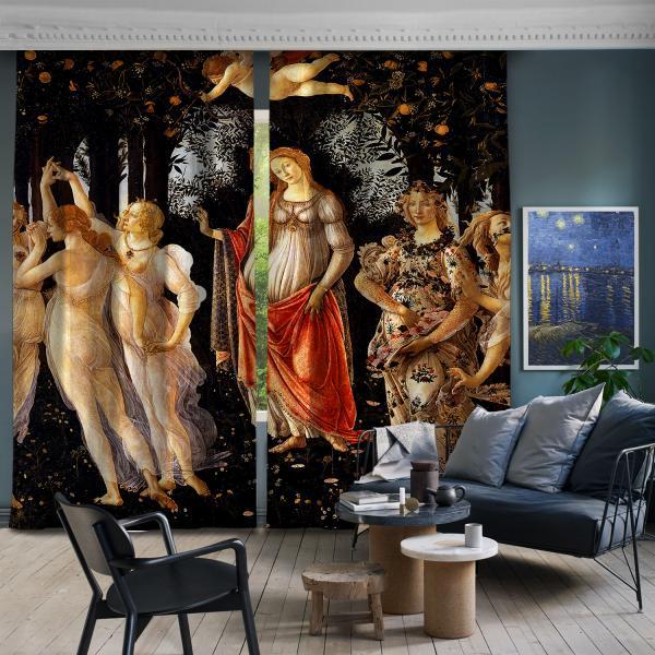 Sandro Botticelli - İlkbahar 2. Ve 3. Panel BlackOut SET