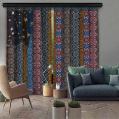 Native Pattern 2 Piece Panel Curtain