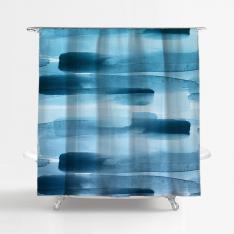 Brush Strokes Shower Curtain